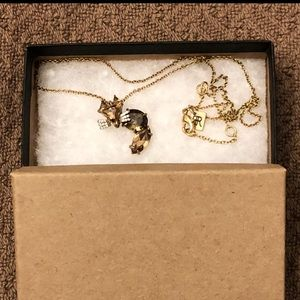 NWT Banana Republic jeweled fox necklace
